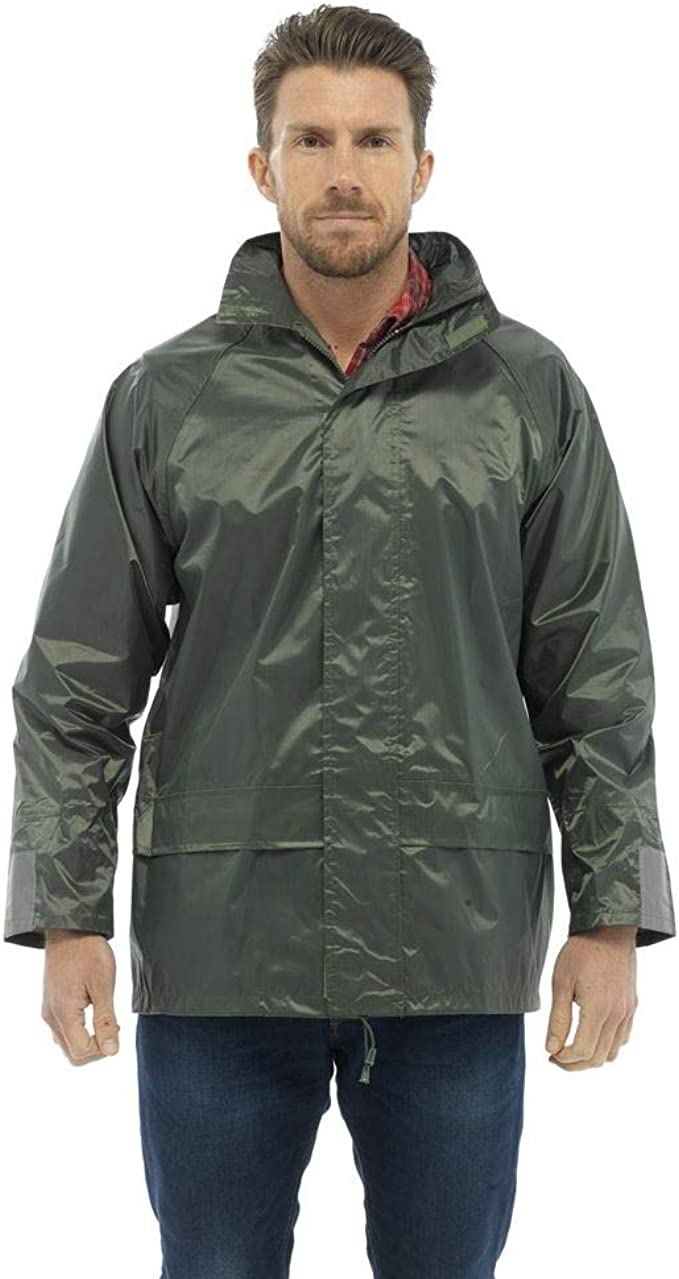 Mens Storm Ridge Showerproof Jacket JK505 Pack Away Mac Black or Navy