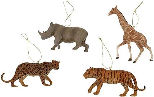 """New Kurt Adler 4.75/""""Resin Giraffe Ornament"""