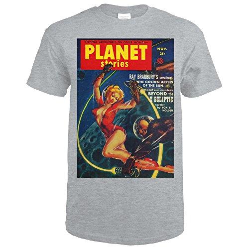 Planet Stories Magazine Cover (Sport Grey T-Shirt (Sport Story Magazine)