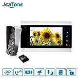 7 inch Touch Button Video Doorbell Intercom Waterproof Door Phone intercom 1 monitor + 1 doorphone + 16G SD Card Jeatone