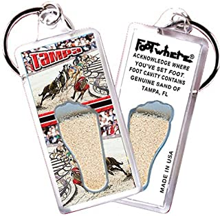 """product image for Tampa""""FootWhere"""" Souvenir Keychain. Made in USA (TP104 - Dog Race)"""