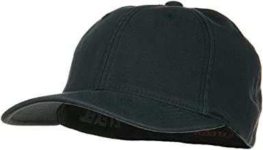 Large//X-Large Cotton Stretchable Fitted Cap-Navy