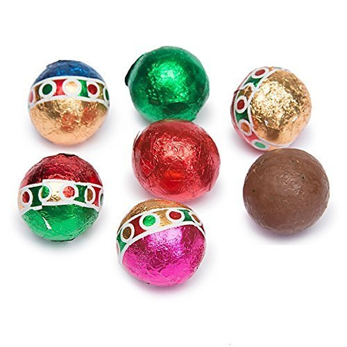 New Christmas Solid Milk Chocolate Balls (1/2 LB) (Godiva Coffee Creme Brulee)