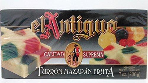 El Antiguo Calidad Suprema Turron Mazapan Fruta / Marzipan Fruit Nougat 200g by El Antiguo ()