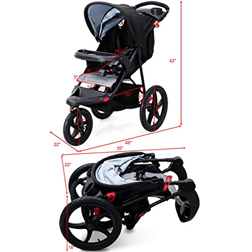Costzon Baby Jogger Stroller Lightweight w/ Cup Phone Holder by Costzon (Image #5)'