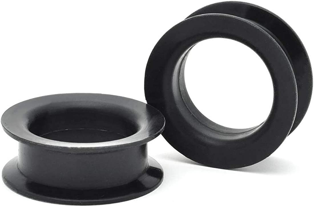 Black Steel Double Flare Tunnels Sold As a Pair Mystic Metals Body Jewelry 1-1//8 Inch 28mm