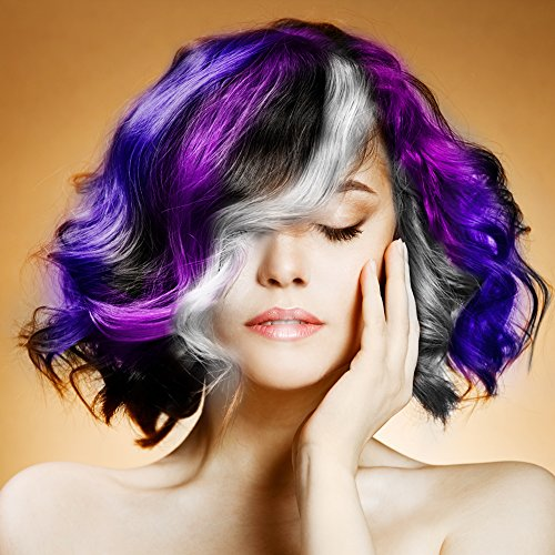 BMK Purple Color Hair Wax Matte Hairstyle Pomades Disposable Temporary Modeling Natural Hair Styling Wax for Party, Cosplay, Nightclub, Masquerad, Halloween