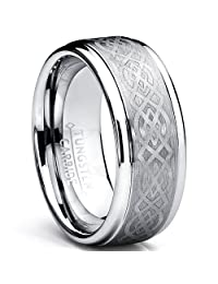 Metal Masters Co.® 8MM Men's Tungsten Carbide Ring with Celtic Design sizes 6 to 15