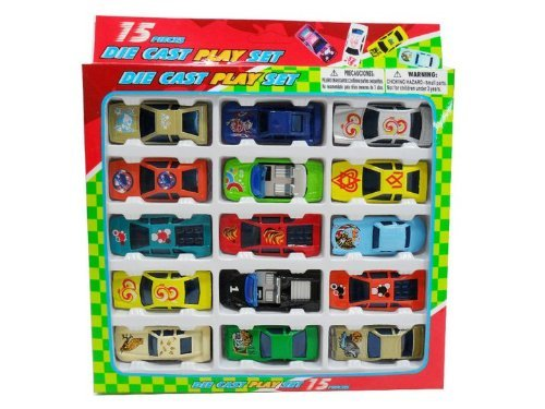 Hot Motorwheels 15-cars Gift Pack of Die-cast Metal 1:64 Scale Assorted Racing Sport Cars Replica Models Full Collection & Free Shipping