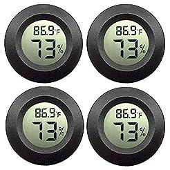 JEDEW 4-Pack Mini Hygrometer Thermometer...