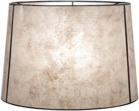 B P Lamp Parchment Deep Drum Mica Shade 14 X 16 X 11