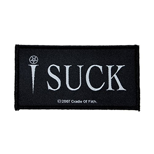 (Cradle of Filth I Suck Patch Pentagram Vampire Metal Band Jacket Sew On Applique)
