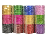 MUCH-MORE Gorgeous Multi Color Bangles Box Multi Color Partywear Bangles Traditional Jewelry (BN-51, 2.11)