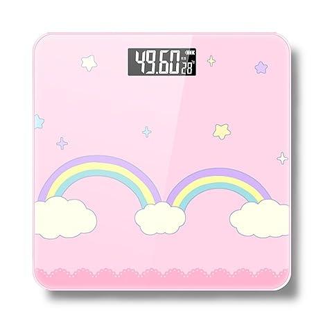 DWW-escala de peso Báscula de pesaje Home USB recargable humana de ultra-precisión