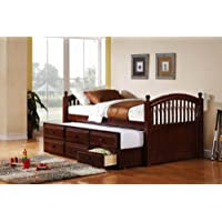 400381T Captains Bed in Cappuccino by Coaster Co.