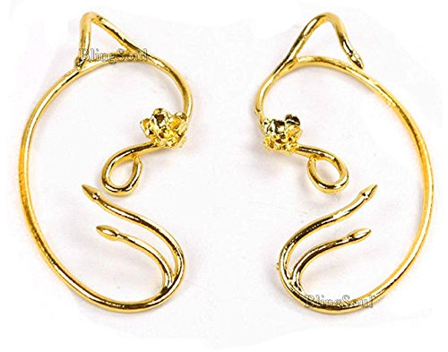 Beauty Emma Watson Ear Cuffs - Beast Belle Earrings Costume Jewelry Merchandise for Girls
