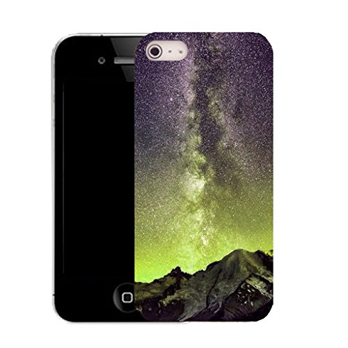 Mobile Case Mate IPhone 5S clip on Silicone Coque couverture case cover Pare-chocs + STYLET - volcano sky pattern (SILICON)
