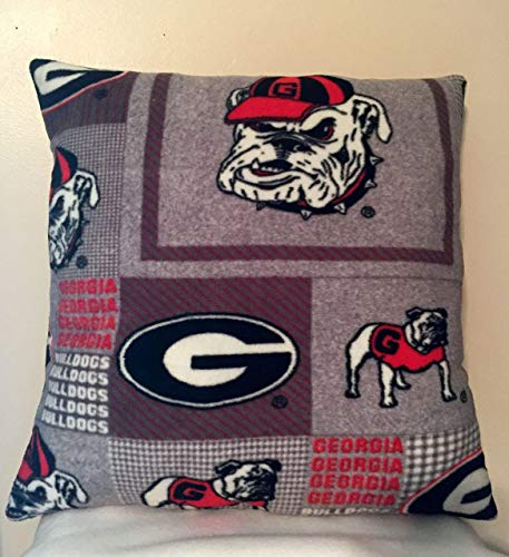 (Georgia Bulldogs Square Throw Pillow/College Team Gifts )