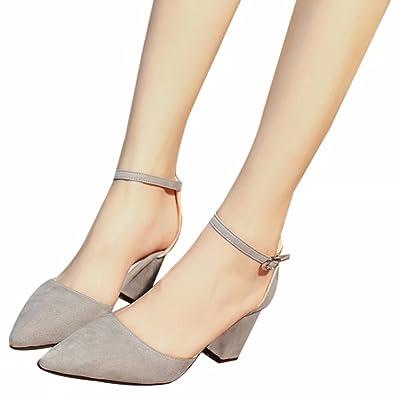 d658a98aa0594 シューズ レディース 靴 パンプス 痛くない ストラップ 太ヒール ポインテッド ハイヒール 7CM 美脚パンプス フォーマル