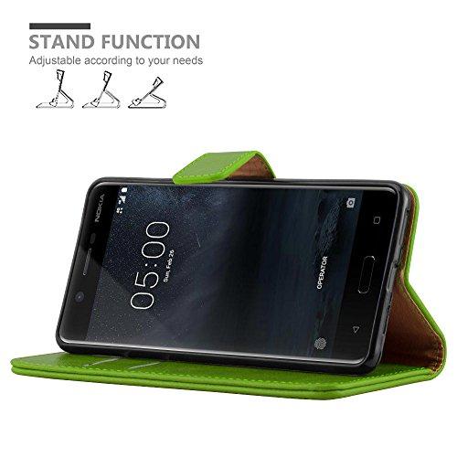 Cadorabo - Funda Estilo Book Lujo para >                                  Nokia 5                                  < con Tarjetero y Función de Soporte