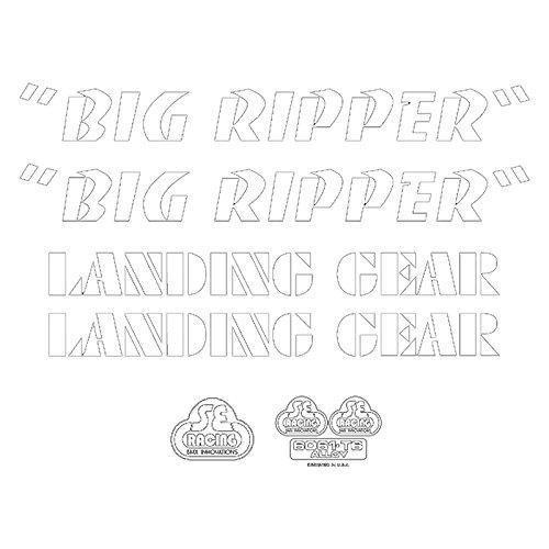 Se Bikes Big Ripperデカールセット B07B9124B6ホワイト