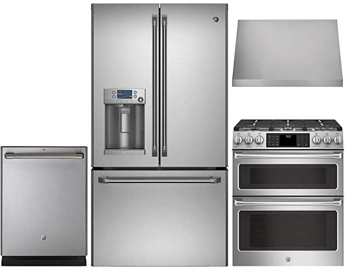 Amazon.com: GE CAFE 4 Pcs Kitchen Package with CFE28TSHSS 36 ...