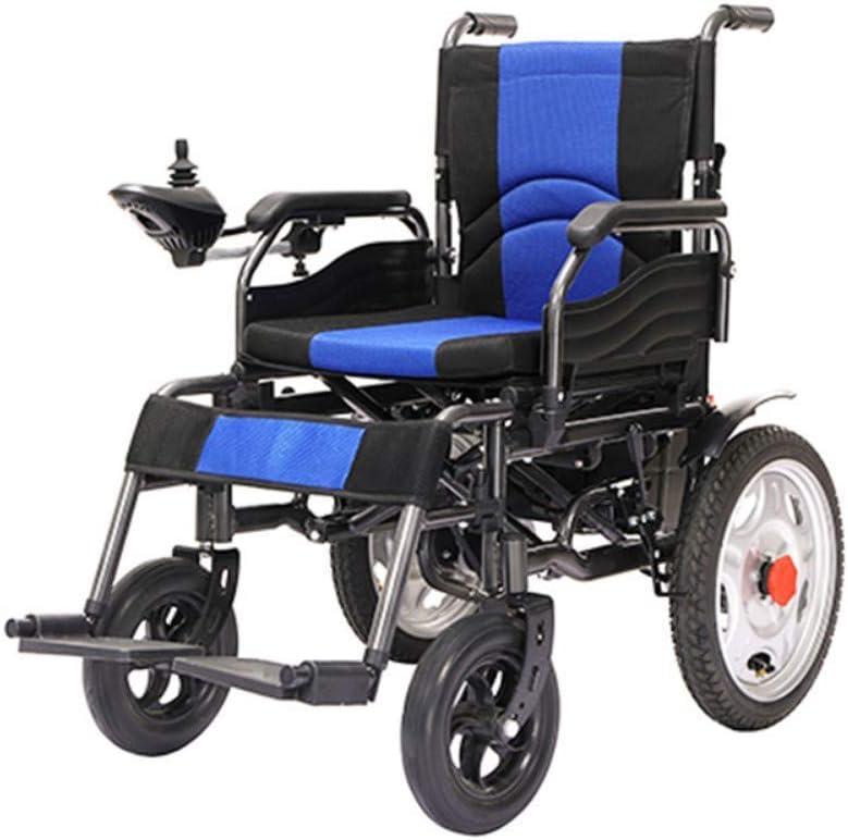 TWL LTD-Wheelchairs Silla de Ruedas Eléctrica con Control Remoto - Energía de Viaje en Avión Ayuda de Movilidad Compacta Silla de Ruedas Liviana
