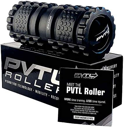 PVTL Vibrating Foam Roller 3 Speed Best Vibranting Foam Roller Rechargeable Recovery Therapeutic Electric Massager Deep Tissue Massage 1 Year Guarantee Vibrating Massager