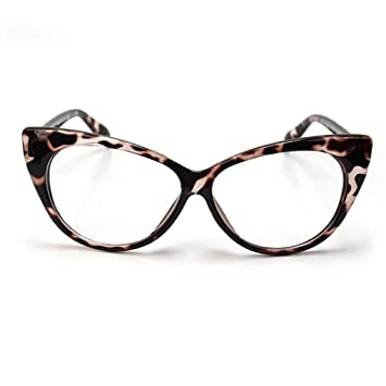 53e11934076 Image Unavailable. Image not available for. Color  Retro Vintage Women s Eyeglasses  Cat Eye Leopard Plastic Frame ...