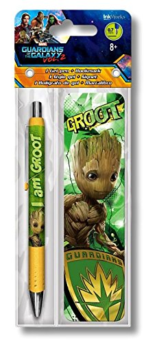 Guardians of the Galaxy Groot Gel Pen And Bookmark Set
