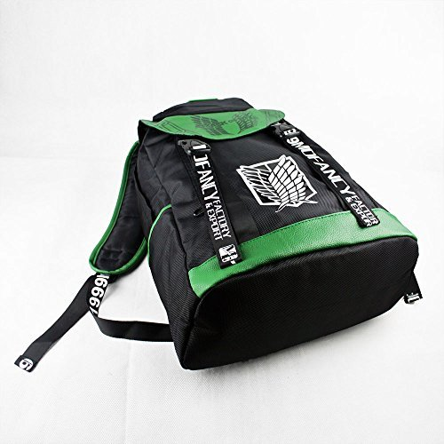 Karmenangel Oxford Fabric Anime Cosplay Backpack Schoolbag Travel Laptop Bag (attack on titan)