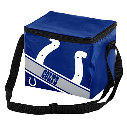 Indianapolis Colts Stripe - Indianapolis Colts Big Logo Stripe 6 Pack Cooler