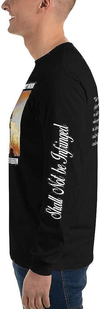 Modern Minuteman Second Amendment Men/'s Long Sleeve Shirt Sienna Tint Stand2A - up to 5X