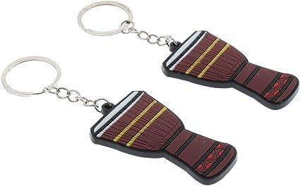 Llavero Música Llavero de Guitarra 2pcs Key Chain Guitar Key Ring ...