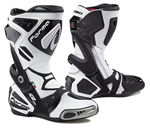 Leather Street Motorcycle Boots (FORMA Ice Pro Street Motorcycle Boots (White, Size 9 US/Size 43 EURO))