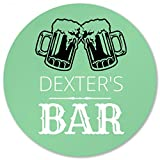 Dexter's Bar Coaster Foamy Beer: Round Plastic Coaster