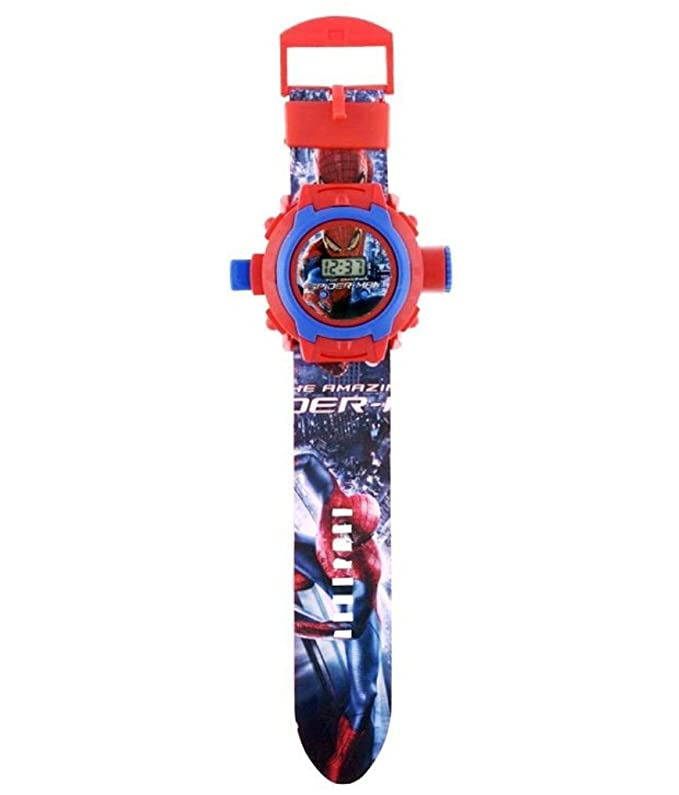 Amazon.com: Spider-man cartoon images Projector Watch Kids Digital Wrist Watch cartoon character watch: Cell Phones & Accessories