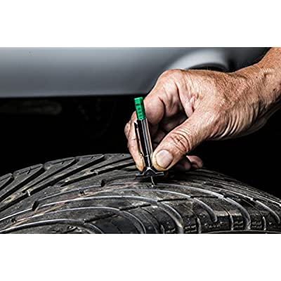 Steelman Color Coded Tread Depth Gauge, Quickly Identifies Amount of Tread on Tires, Reads in MM and 32nds: Automotive