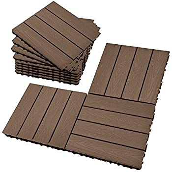 Ikea Outdoor Deck and Patio Interlocking Flooring Tiles (Brown ...