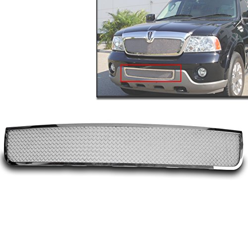 ZMAUTOPARTS Lincoln Navigator Front Bumper Stainless Steel Mesh Grille Grill Chrome