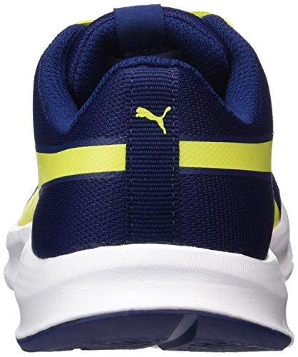 Puma Unisex-Kinder Flexracer Jr Sneaker Blau (Blue Depths-Nrgy Yellow)