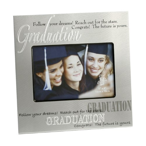 (Oaktree Gifts Aluminium Graduation Photo Frame 6 x 4)