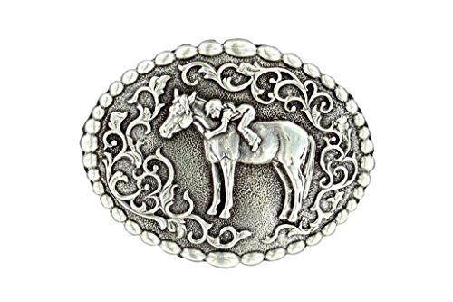 M & F Western Girls' And First Love Belt Buckle Silver One Size (Love Belt)