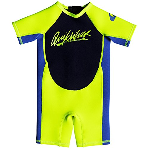 Quiksilver 2mm Syncro Series Back Zip FLT Kid's Short Sleeve Wetsuits - Nite Blue/Blue Ribbon / ()