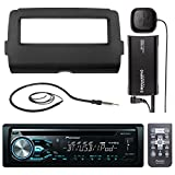 Audio Bundle For 2014 and Up Harley - Pioneer DEH-X4800BT CD MP3 AUX Marine Bluetooth Receiver Combo W/ Dash Install Kit, Handle Bar Controller for Motorcycle, SiriusXM Tuner, Enrock 22