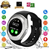 Bluetooth Smart Watch Touch-Screen Waterproof Smartwatch Support SIM Fitness Trackers Monitors, Smart Wrist Watch Compatible with IOS Android Samsung Iphone Huawei for Kids Girls Boys Men Women