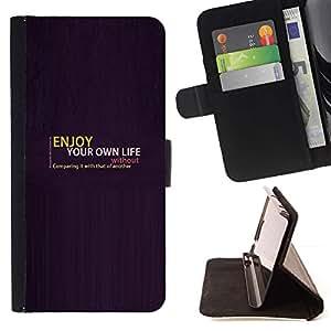 Momo Phone Case / Flip Funda de Cuero Case Cover - Disfruta de tu vida;;;;;;;; - Samsung Galaxy S4 IV I9500