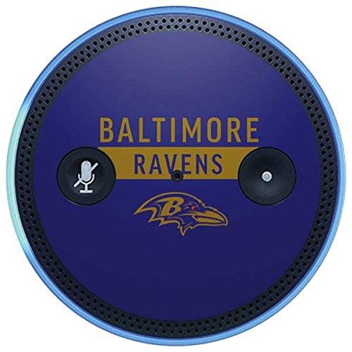 Skinit NFL Baltimore Ravens Amazon Echo Plus Skin - Baltimore Ravens Purple Performance Series Design - Ultra Thin, Lightweight Vinyl Decal Protection