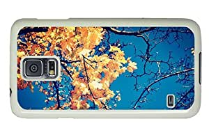 Hipster Samsung Galaxy S5 Case buy covers yellow autumn leaves PC White for Samsung S5