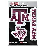 NCAA Texas A&M Aggies Team Decal, 3-Pack